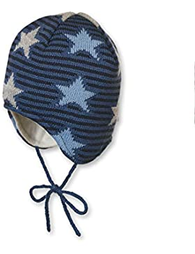 Sterntaler Strickmütze mit Bommel und Bindebändern, Alter: ab 18-24 Monate, Größe: 51, Blau (Marine)