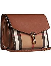 Burberry bolso con bandolera mujer nuevo checked derby marrón