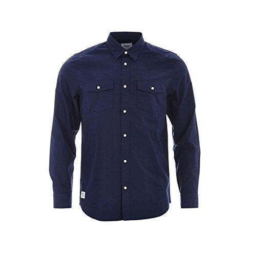 Wesc Ivo camicia a maniche lunghe navy Blazer, Blue, M