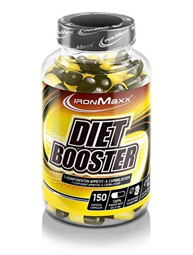 IronMaxx Diet Booster - 7-Komponenten Appetit- & Carbblocker - Diät Kapseln zur Unterstützung von Lower-Carb Ernährung - 1 x 150 Kapseln -