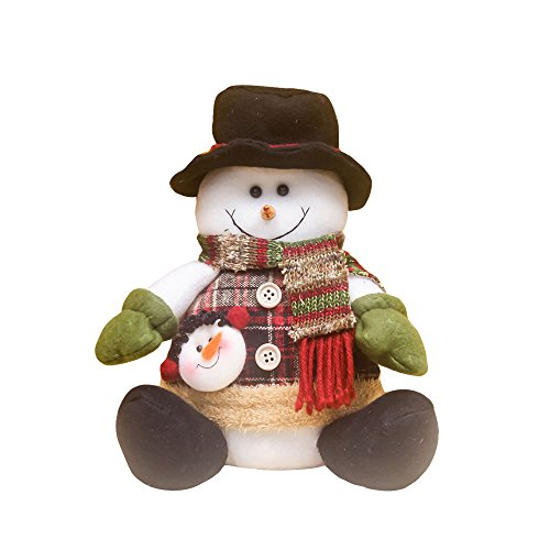 Kicode TOPmountain Kawaii Weihnachten Weihnachtsmann-Puppe-Tuch-Kunst Schneemann Elk hängende Verzierung Weihnachtsdekoration Heim-Party-Geschenk