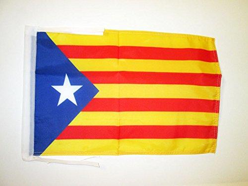 AZ FLAG Bandera de CATALUÑA ESTELADA BLAVA 45x30cm - BANDERINA CATALANA INDEPENDENTISTA - Catalunya 30 x 45 cm cordeles