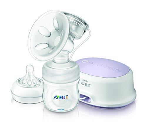 Philips Avent SCF332/01 Elektrische Komfort-Einzelmilchpumpe mit Naturnah-Flasche