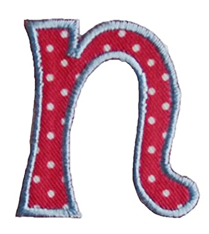 TrickyBoo iron-on fabric smallcase letter n103, 4-5cm personalizes christening diy baby room personalize Birthday Farewell Tulips Romance Love Regal Baby Expecting Sugar letters fabric decor kid baby name gift toddler blue green red pink white stripe big small cm inch alphabet ABC craft sew on iron personal personalized a b c d e f g h i j k l m n o p q r s t u v w x y z 2016 word wool woodland wonder womens women wolf with wild wholesale western volkswagen vests vest velcro varsity vampire us u