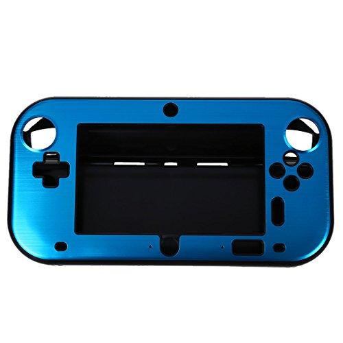 SODIAL(R) Aluminio de la Caja Cubierta para Nintendo Wii U Mango de Controladores Remotos de juegos - azul (sin paquete por menor)