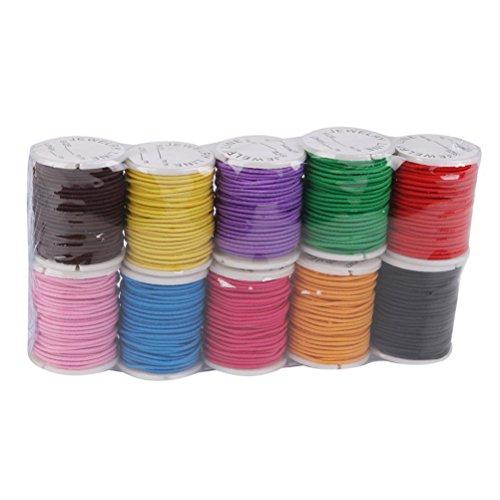 ULTNICE 10 Rollos Cuerda Hilo de Nylon Elástico Cordón para Collar Pulsera...
