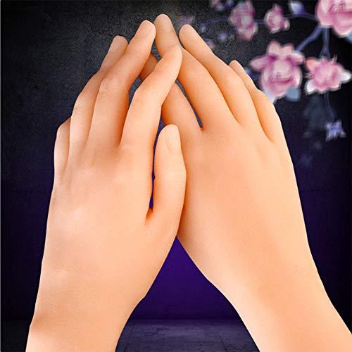 BIXINYAAN Silikon lebensecht Modell Mannequin Hand weiblich Modell Mädchen Frauen Hände Flexibel und Frei Verstellbar,lefthand -