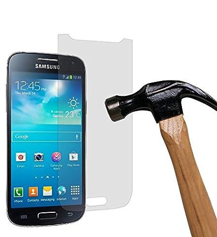 yayago Panzerglas 0,26 MM Displayschutzfolie für Samsung Galaxy S4 Mini i9180 Glasfolie Hartglas 9H (bewusst kleiner als das Display, da dieses gewölbt ist)