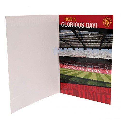 Geburtstagskarte, mit Musik, Manchester United FC Design