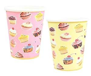 Einweg-Plastikschnapsgläser für Parties, Picknick, Pappbecher, 9 oz / 14 / Cupcakes, Stück