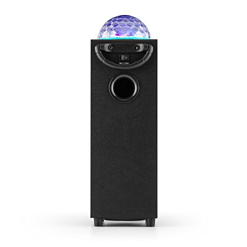 auna DiscoStar Blue • 2.1 Bluetooth-Lautsprecher • Radio • UKW-Radiotuner • 30 Speicherplätze • MP3 • SD • USB • Mini-USB • AUX • Mikrofon • LED-Lichteffekt • Akku • tragbar • blau - 5