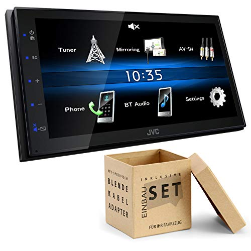 JVC KW-M25BT 2-DIN Digital Media Receiver Bluetooth Shortbody Bluetooth passend für Toyota Yaris ab 2011 Silber