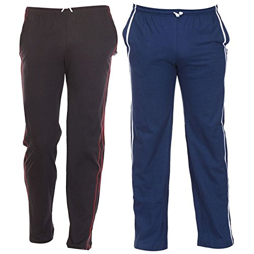 TeesTadka Solid Men's Track Pants (Pack of 2) ACMTK_2930_XL_Multicolor_X-large  available at amazon for Rs.797