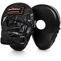 Pro Impact Genuine Leather Curved Focus Mitts Leather ($85 Value) mma fitness boxing punching mitts trainer mitts