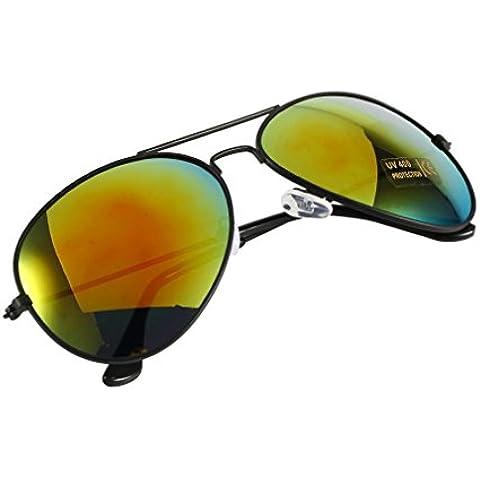 Marco negro + rojo floral lente unisex mujeres hombres vintage retro Fashion espejo lente gafas de sol gafas gafas de F5mundo ojo