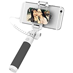 iPhone 7 Plus Bastone Selfie, ROCK Selfie Stick con iPhone Lightning Controllo di Legare e Grande Specchio[24,5CM a 90CM] per iPhone 8 7 6s 6 Plus e iPhone 5s 5 - Nero