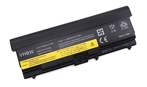 Vhbw akkku 6600mAh pour ordinateur portable iBM lenovo thinkpad edge 14 15, 42T4235, 42T4753 42T4757, 51J0499 57Y4185, fRU 42T4702 fRU 42T4751 6600 mAh, etc