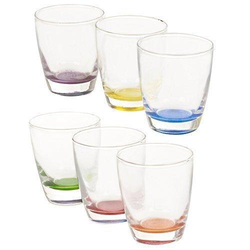 Juego de 6multicolor potable vasos de cristal (