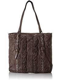 Taschendieb - Td0118db, Bolsos maletín Mujer, Braun (Dunkelbraun), 8x28x28 cm (B x H T)