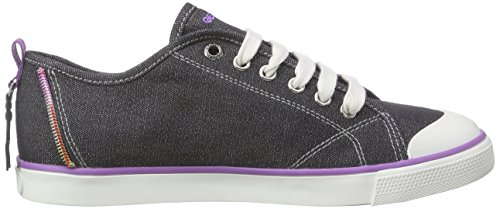 Geox JR CIAK GIRL E, Mädchen Sneakers Schwarz (Blackc9999)
