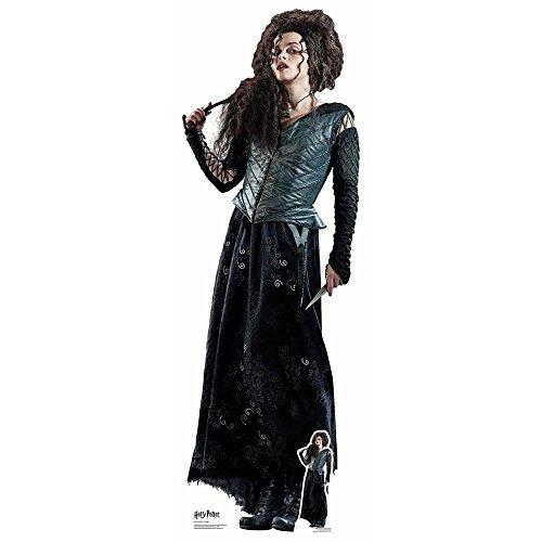 De los Libros Oficiales de Harry Potter Star Cutouts Lifesize de cartón Recorte de Bellatrix Lestrange 163 cm de Alto