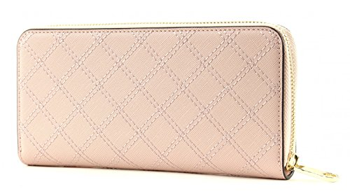 GUESS Aria Large Zip Around Nude Rosa