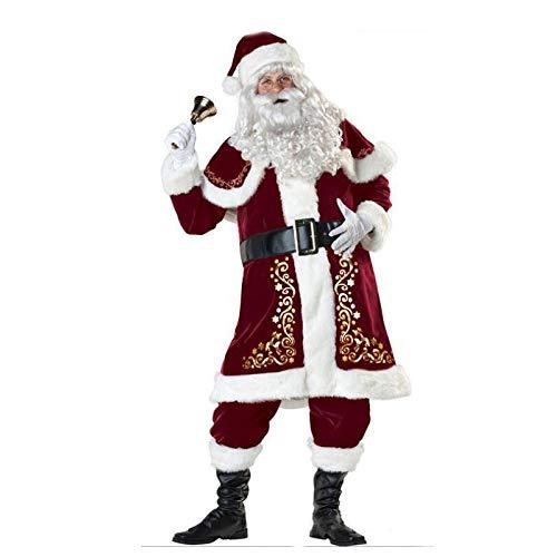 Yunfeng Costume da Babbo Natale Donna Vestire Costume Babbo Natale di Uomini Adulti Vestiti Vestito Prestazioni Costume Cosplay per Feste di Natale per Adulti