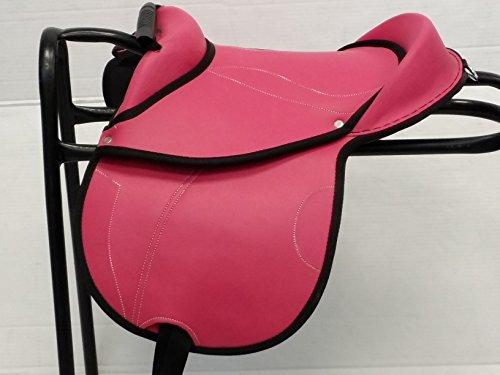 Northern New Junior Pony Cub Sattel Synthetik in 35,6cm 30,5cm & 25,4cm mit Nylon Steigbügel & Längen (30,5cm Fuchsie/Pink)
