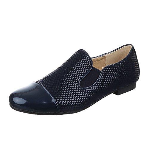 Scarpe Da Donna, 6223-1, Scarpa Bassa Elasticizzata Blu Navy