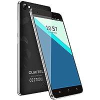 OUKITEL C5 Pro - Smartphone 4G 5.0''HD (FDD-LTE, Android6.0, 5.0MP+2.0MP doppia fotocamera, 16GB ROM+ 2GB RAM, MTK6737 quad-core 1.3GHZ), nero