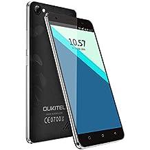OUKITEL C5 Pro - Smartphone Libre 4G de 5.0''HD (FDD-LTE, Android 6.0, 5.0MP+2.0MP cámaras, 16GB ROM+ 2GB RAM, MTK6737 quad-core 1.3GHZ), negro