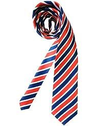 Mailando Herren Krawatte mit Streifen, blau- weiss- rot