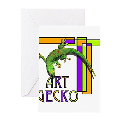 CafePress–Art gecko-2. Png Grußkarten–Grußkarte, Note Karte, Geburtstagskarte, innen blanko, matt