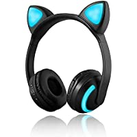 Wireless Bluetooth cuffie Ear Cat 7 colori LED luce lampeggiante  incandescente On-Ear stereo Headset a7d0440d0b98