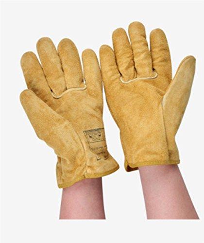Verdickung Schutzhandschuhe, Schweißen Isolierte Handschuhe, Arbeits-resistente Handschuhe Bequem Industrielle (Leder-arbeits-handschuhe Isolierte)