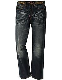 Christian Audigier Hommes Jeans Bleu Buddha EMB McQueen M67103