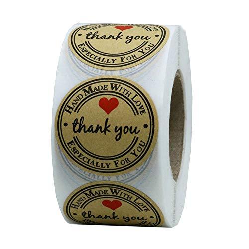 Denret3rgu 500 Stücke Klebstoff Danke Sie Versiegeln Aufkleber Handwerk Umschlag Scrapbook Geschenk Label Sealing Sticker