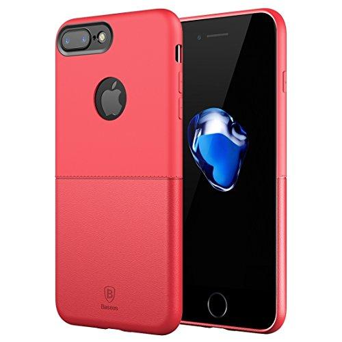 Hülle für iPhone 7 plus , Schutzhülle Für IPhone 7 Plus Arc Edge Das ganze Paket TPU + PC weiche und harte Mosaik Kombination Schutzhülle ,hülle für iPhone 7 plus , case for iphone 7 plus ( Color : Re Red