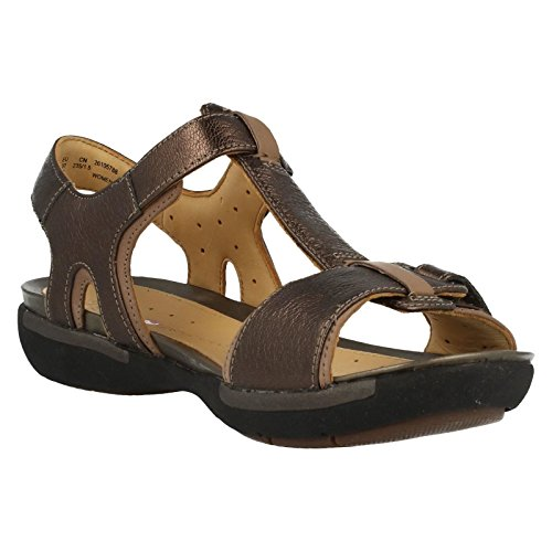 Clarks  Un Voshell,  Damen Elegante Sandalen Marrone (Marron (Bronze Leather))