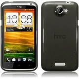 HTC One X TPU Gel Skin Case / Cover - Smoke Black Part Of The Qubits Accessories Range