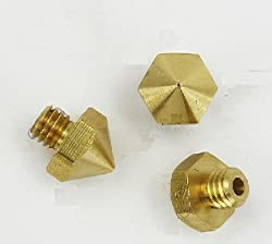Generic 10PCS 3D Printer Brass Nozzle 0. 4MM with M6 Thread NEW