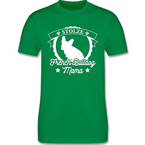 Shirtracer Hunde - Stolze French Bulldog Mama - Herren T-Shirt Rundhals Grün