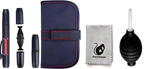 meymoon 5-Teiliges Reinigungs-Set für Spiegelreflex Kameras mit Tasche und Ersatz-Patronen