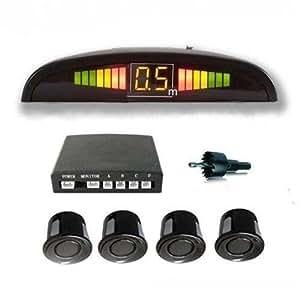 Black Car Reverse Parking Sensors