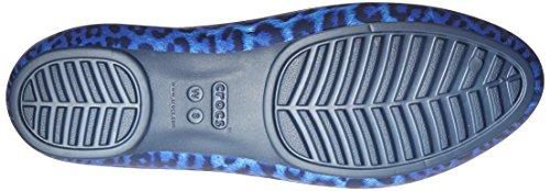 Crocs Crocs Lina Shiny Flat, Ballerines femme Bleu (Navy/Navy)