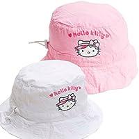 Hello Kitty Golf niños sombrero impermeable, color Blanco - blanco, tamaño talla única