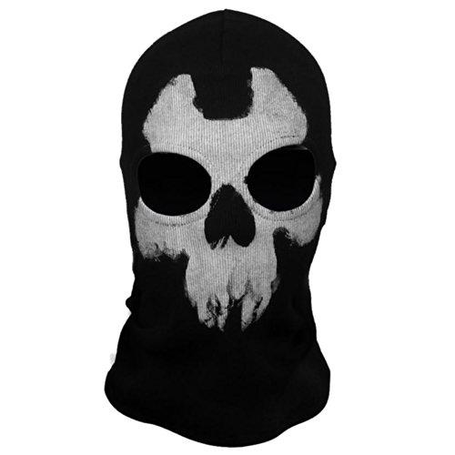 Coxeer® Geister Schädel-Maske Balaclava Hood Ghosts Skull Mask Outdoor Sports Skilaufen Wandern Full Face Mask for Men Maske für Männer (Model 8)