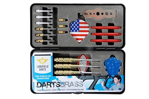Longfield Darts Dart Geschenkset, Black/Red/Silver/Blue, Nicht zutreffend