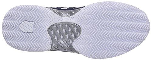 K-Swiss Performance Hypercourt Express Ltr Hb, Chaussures de Tennis homme Blanc (White/navy/silver)