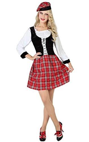 ATOSA Schottland-Kostüm Größe M/L, Einheitsgröße für - Scotswoman Kostüm